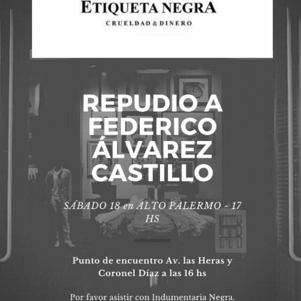 Escracharon un local de Etiqueta Negra tras el video del cerdo en la casa de Federico Álvarez Castillo