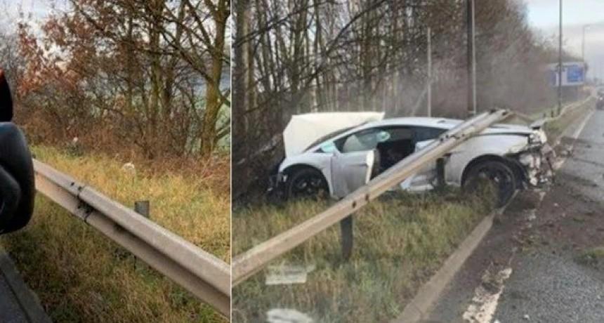 Así es el exclusivo Lamborghini que destrozó Sergio Romero en el choque
