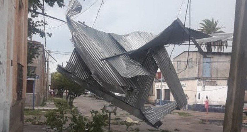 Fuerte temporal en Villa Mercedes: trabajan en la evaluación de los daños
