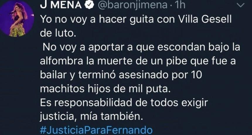 """Jimena Barón canceló el show que iba a dar en Le Brique: """"No voy a hacer guita con Villa Gesell de luto"""""""