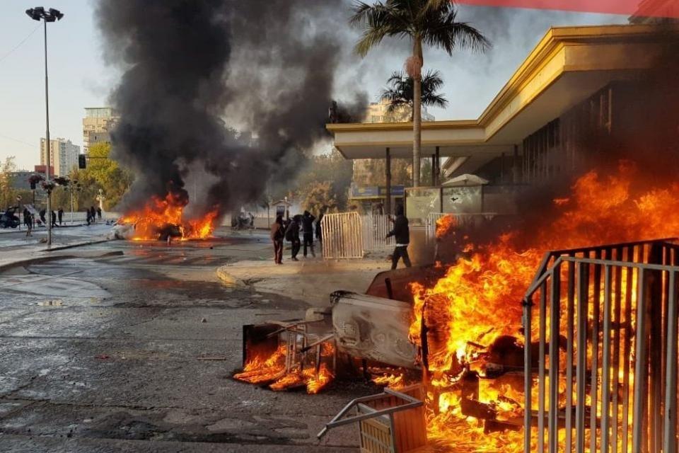 Las protestas contra Sebastián Piñera llegaron a Viña del Mar