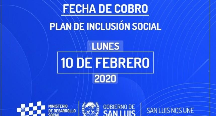 El 10 de febrero cobran los beneficiarios del Plan de Inclusión Social