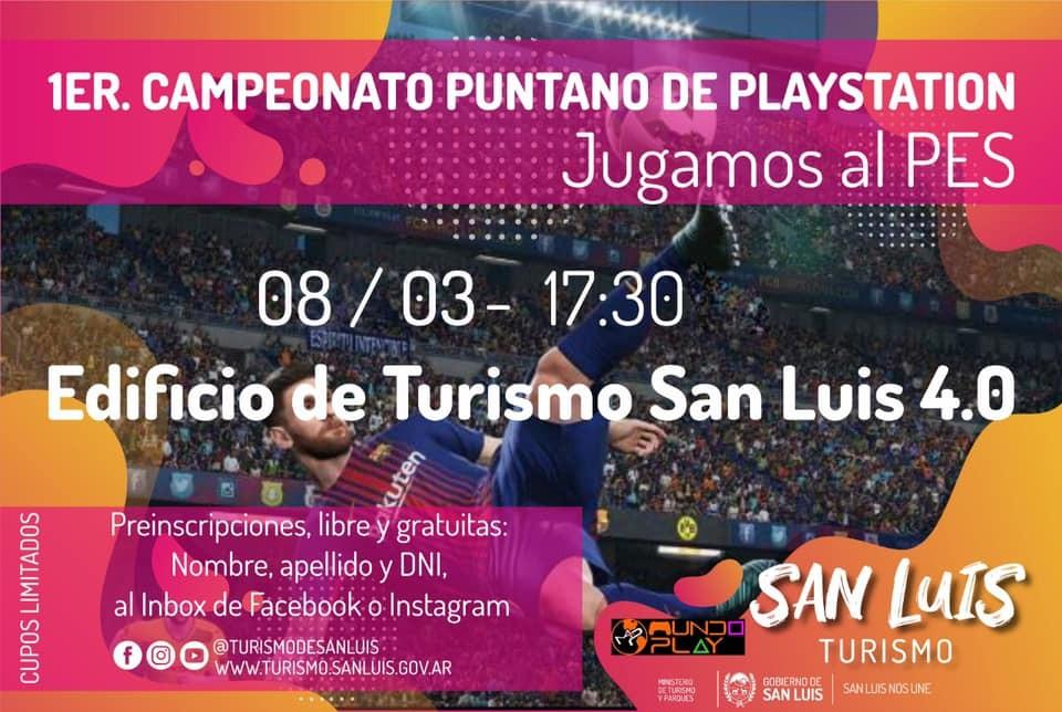 Se viene el 1° Campeonato Puntano de Playstation