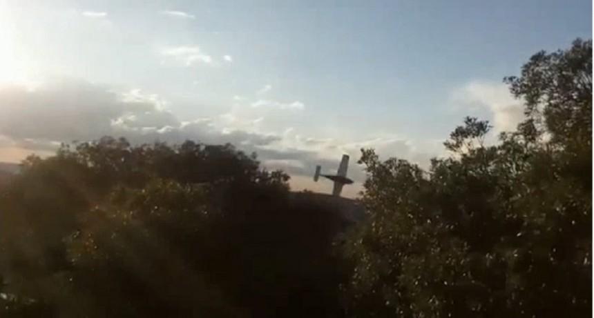 VIDEO: Así cayó la avioneta en La Cumbre