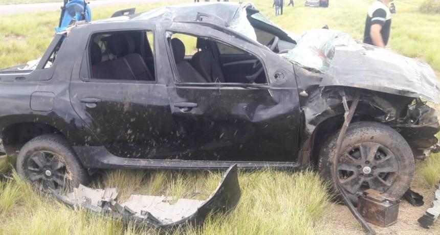 Una mujer muerta y 6 heridos en un accidente cerca de Nueva Galia