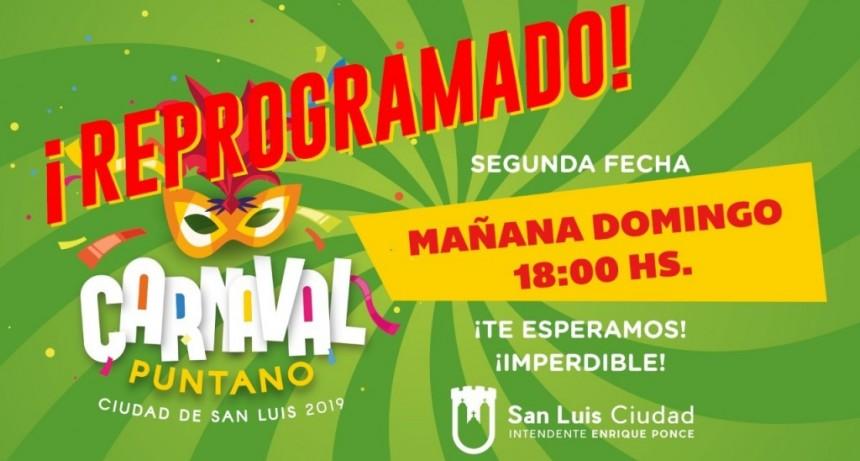 Se reprogramó el Carnaval Puntano