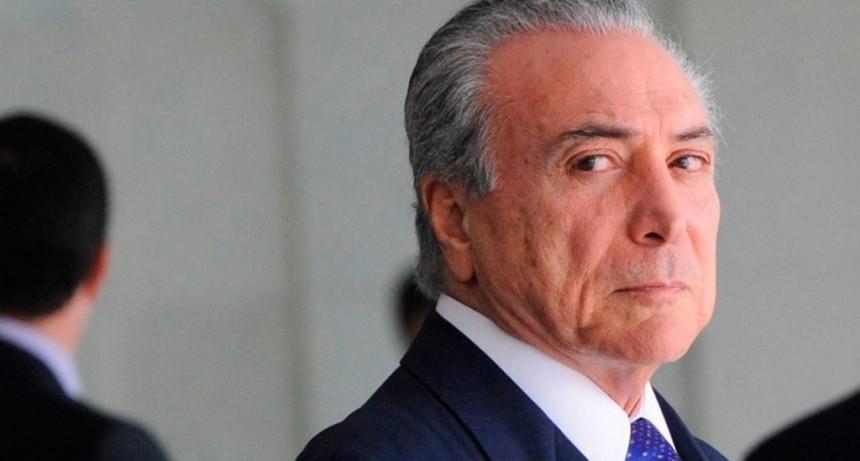 Brasil: detuvieron al ex presidente Michel Temer por el
