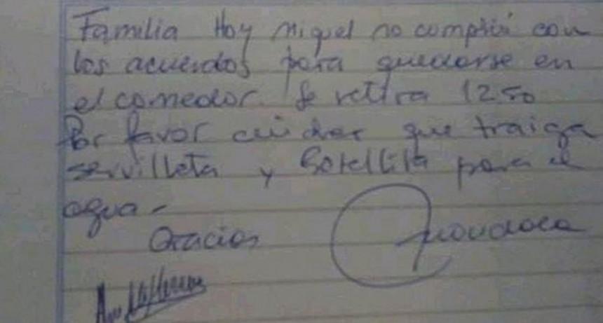 Neuquén: le impidieron comer a cuatro chicos en una escuela porque les faltaba agua y servilletas
