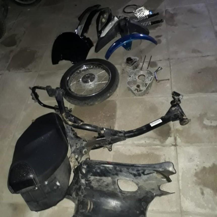 San Luis: una persona fue detenida por vender autopartes de motos robadas en las redes sociales