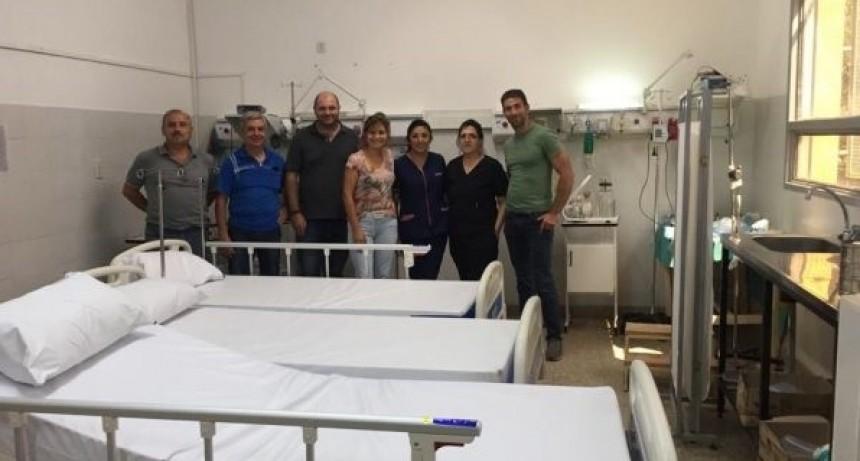 Entregaron equipamiento en los hospitales de Candelaria, Quines, Luján y San Francisco