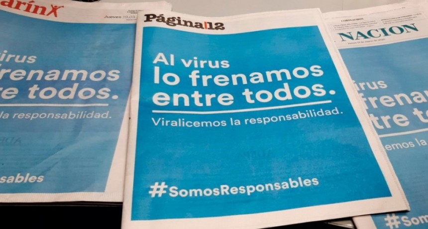 Coronavirus: todas las tapas de diarios contra la pandemia