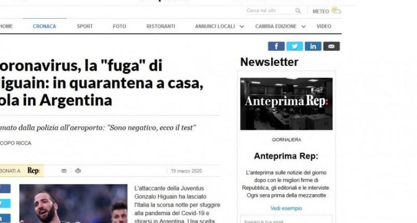 Denuncian que Higuain se fugó de Italia por el coronavirus