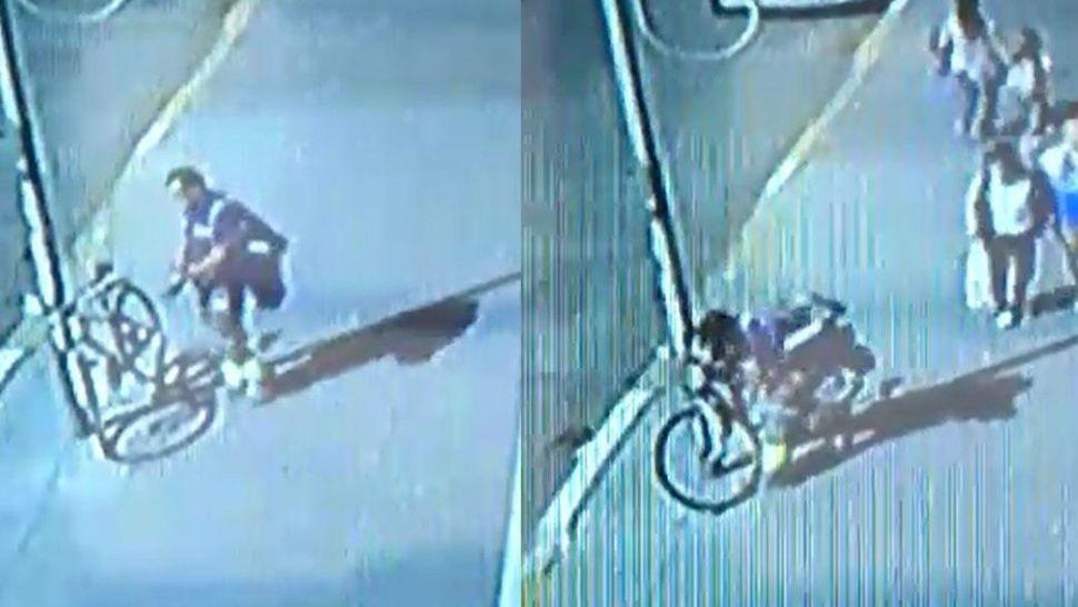 Indignante: así roban una bicicleta a plena luz del día en Banfield