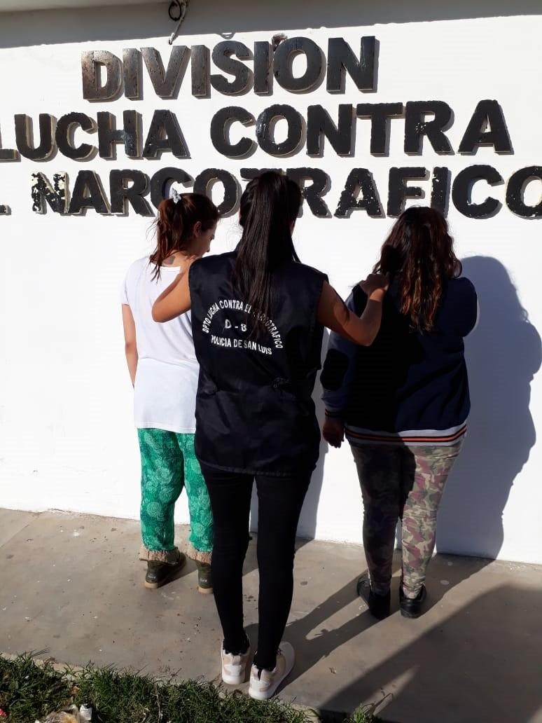 San Luis: cárcel para dos mujeres por infringir la Ley de Estupefacientes