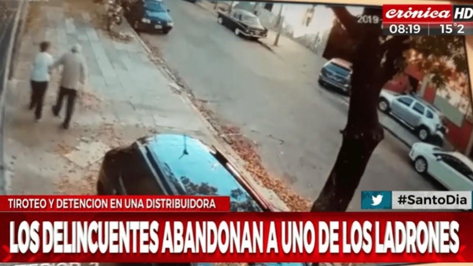 Aterrador video: abuelos quedaron atrapados en medio del tiroteo en Parque Avellaneda
