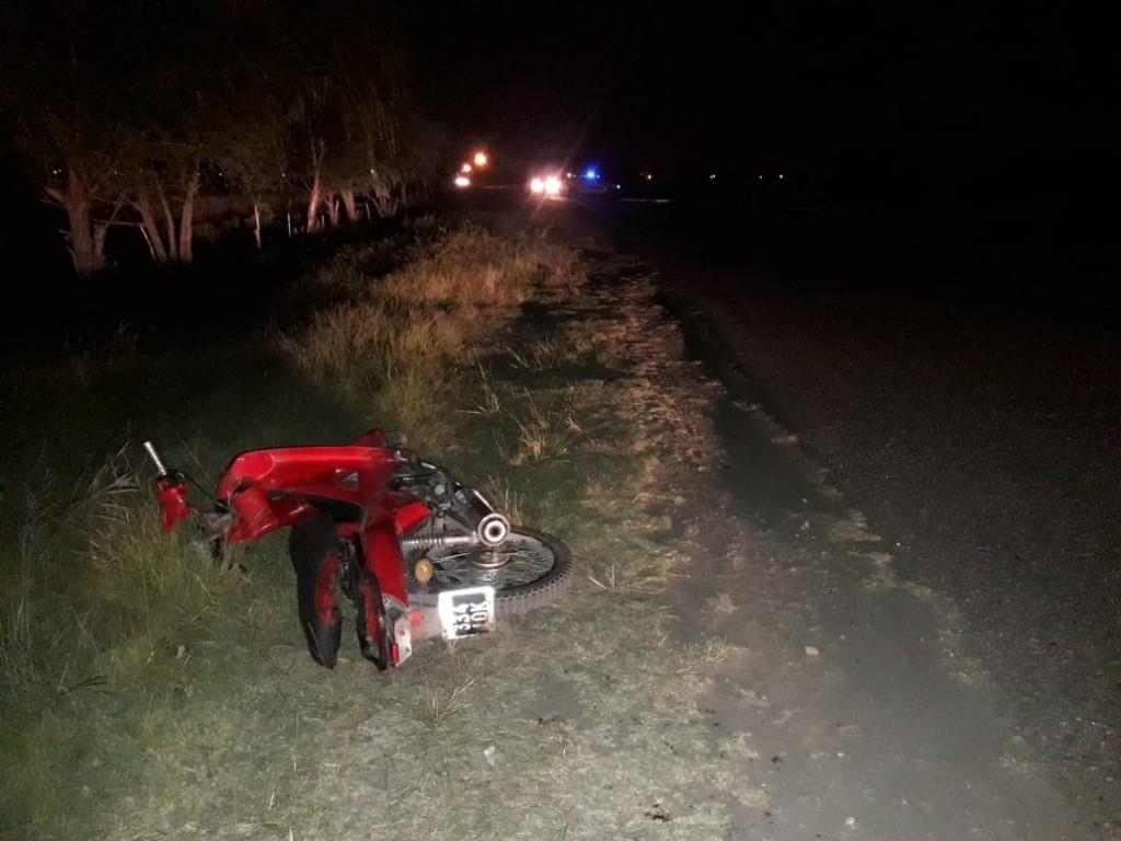 Villa Mercedes: una mujer termino en terapia intensiva luego de chocar con su moto