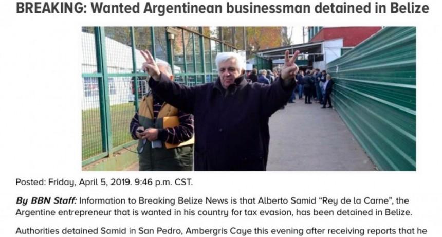 Confirmado: Alberto Samid fue detenido en Belice por Interpol