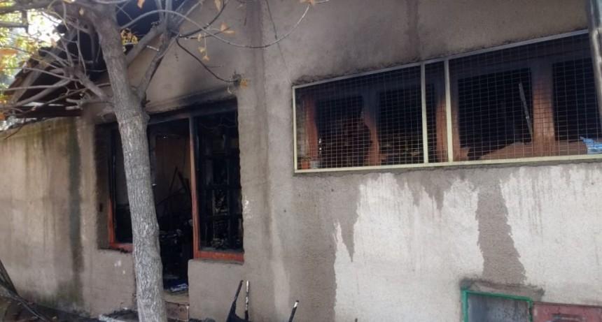 San Luis: incendio en una casa de la ciudad