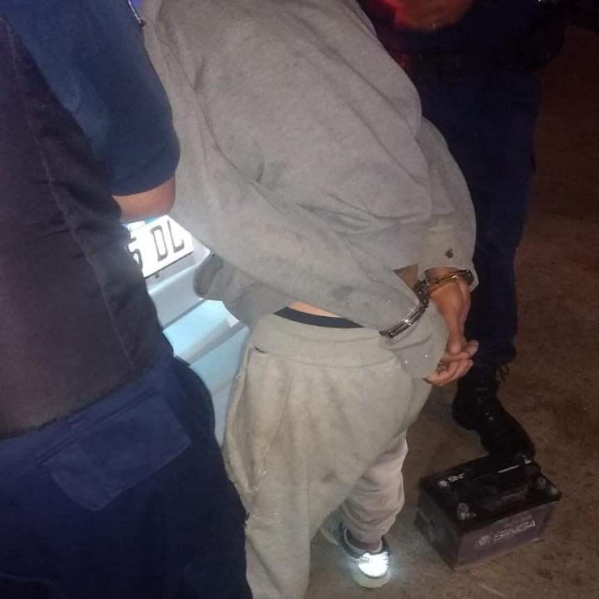 San Luis: fue aprehendido con elementos de dudosa de procedencia