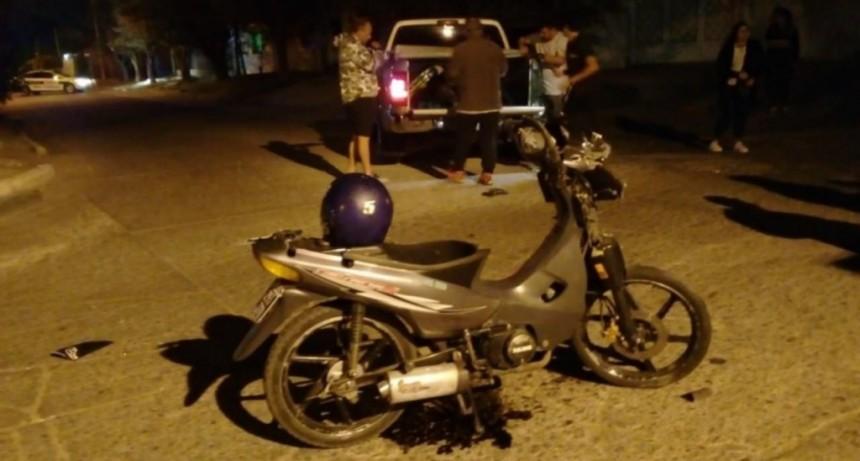 San Luis: chocaron contra una camioneta y terminaron internados