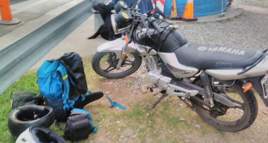 Santa Rosa del Conlara: motociclistas detenidos por viajar con droga