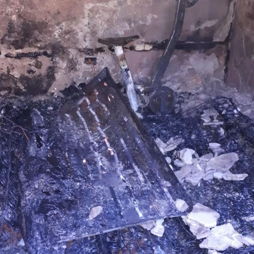 Santa Rosa de Conlara: incendio en una vivienda