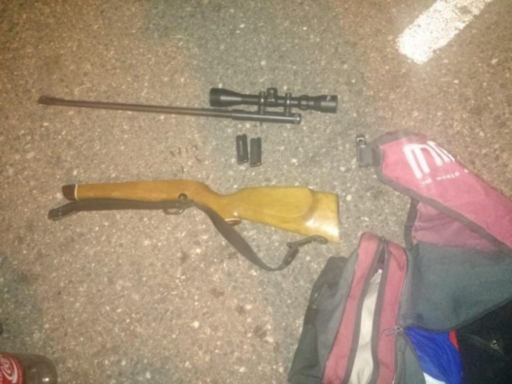 San Luis: efectivos policiales le quitaron armas y presas a cazadores furtivos