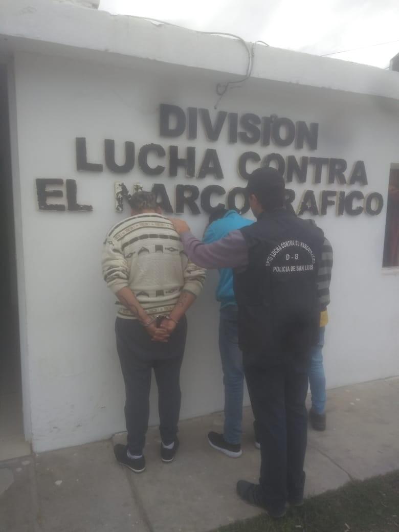 San Luis: tres hombres enviados a prisión por infracción a Ley de Estupefacientes