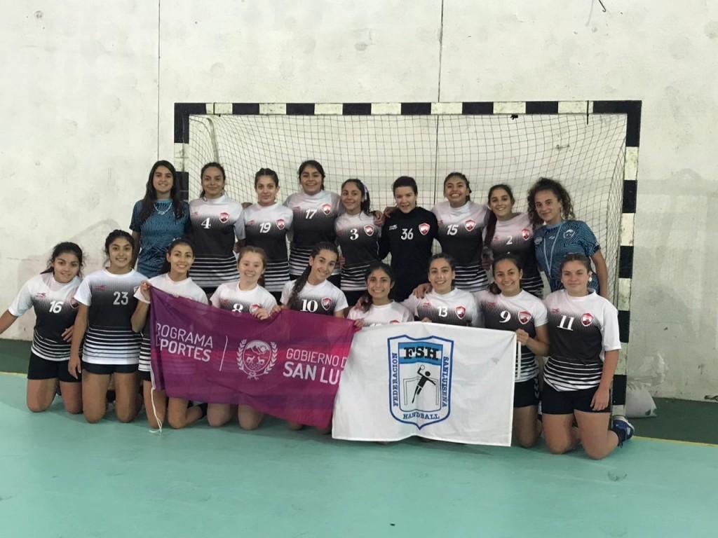 Continua la participación de los cadetes puntanos en el Argentino de Handball