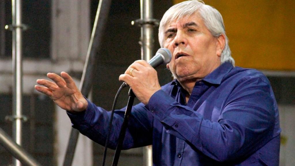Hugo Moyano manifestó su apoyo a Alberto Fernández