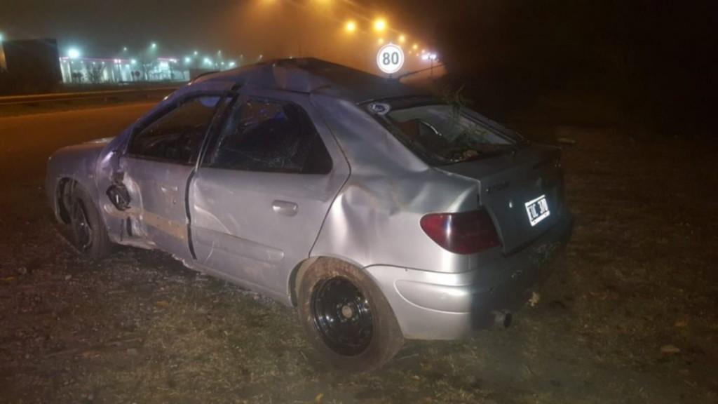 San Luis: un conductor alcoholizado chocó en la Avenida Santos Ortiz