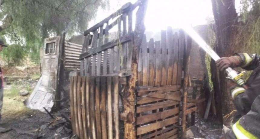 San Luis: se incendio una casa ubicada en la ciudad