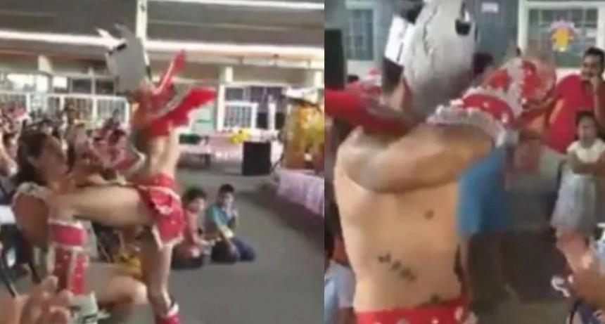 Festejaron el Día de la Madre en la escuela con un stripper