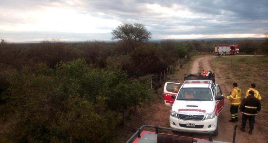 Santa Rosa del Conlara: bomberos extinguieron un incendio forestal
