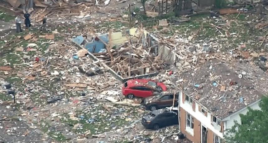 Una casa desapareció tras explosión: un muerto y varios heridos