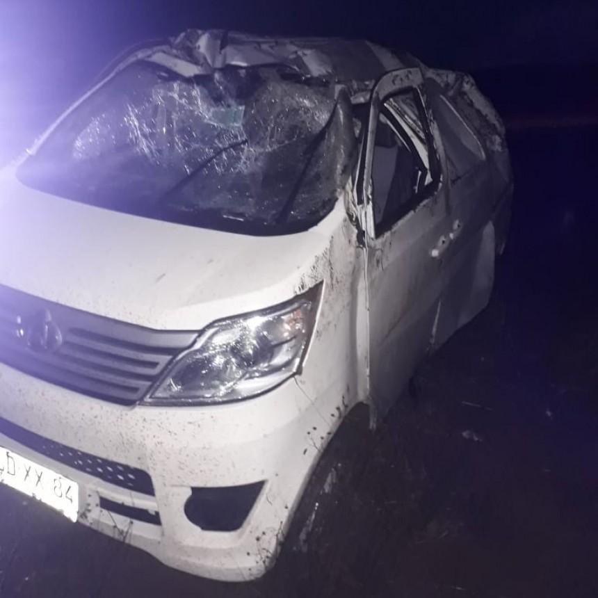 San Luis: un auto volcó en la Ruta 188