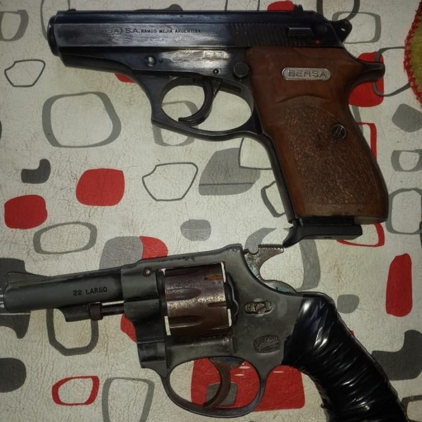 Villa Mercedes: la Policía allanó un domicilio y secuestró armas de fuego