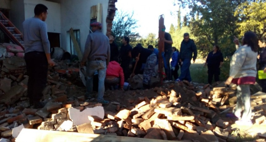 San Luis: se derrumbó una iglesia en la localidad de Leandro N. Alem