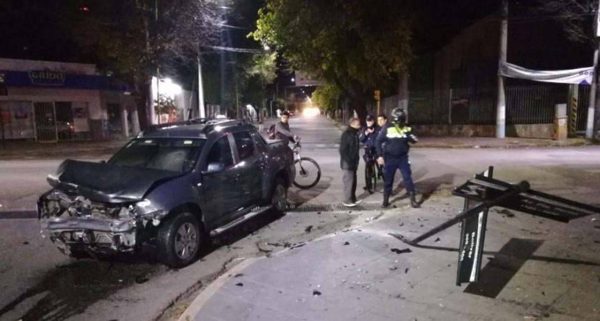 San Luis: dos autos chocaron en la esquina de Presidente Perón y Bolivar