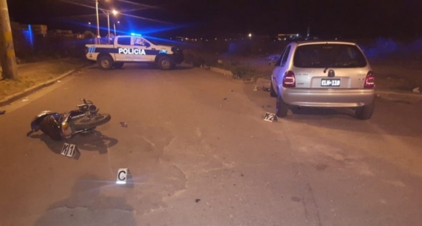 San Luis: dos motociclistas fueron internados tras chocar con un auto