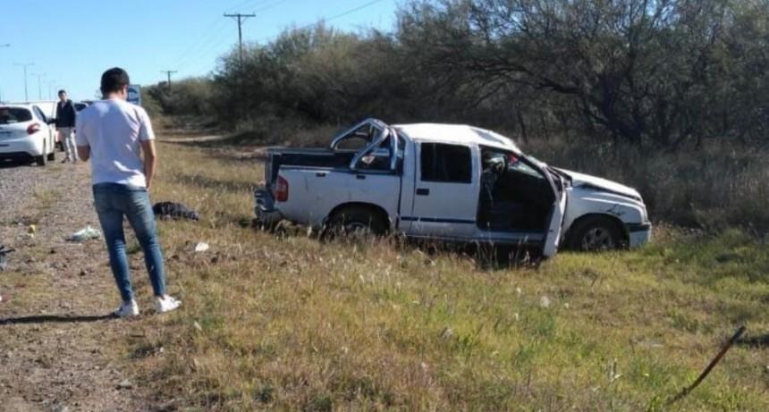 San Luis: un conductor falleció tras volcar con su camioneta