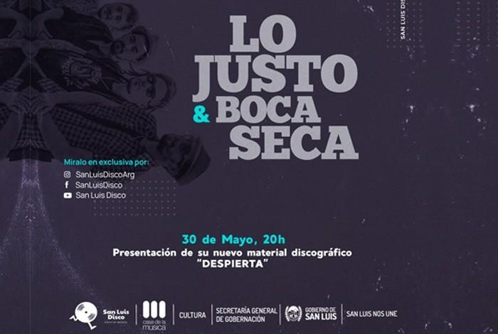 """""""Despierta"""", el nuevo disco de Lo Justo & Boca Seca ya tiene fecha de estreno"""