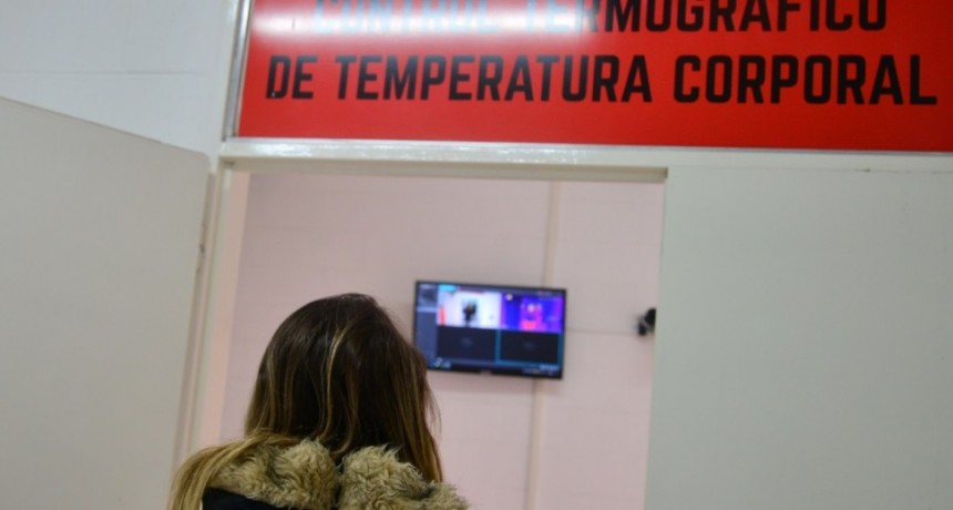 Para detectar fiebre: San Luis puso en funcionamiento cámaras termométricas en Desaguadero y Justo Daract