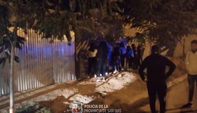 San Luis: desarticularon una fiesta clandestina