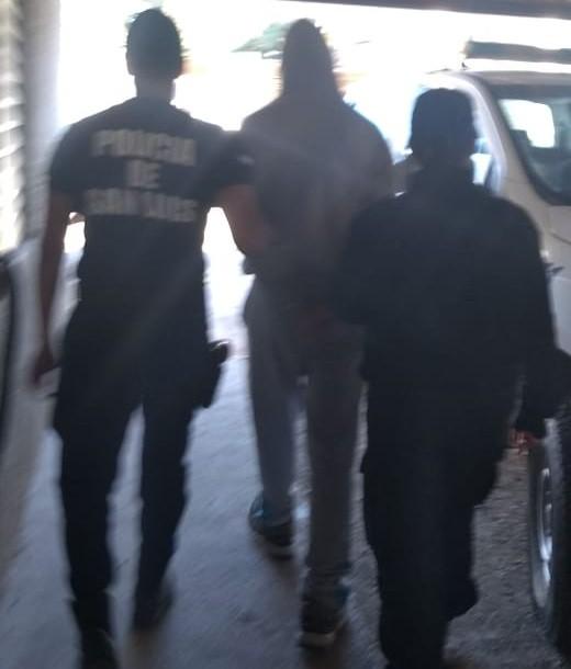 San Rosa del Conlara: fue detenido por incumplir una medida judicial y agredir a su ex pareja
