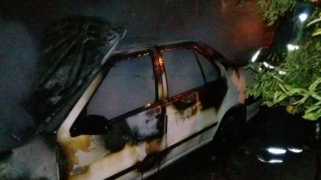 San Luis: sofocaron el incendio de un automóvil que estaba estacionado en el garaje de una vivienda