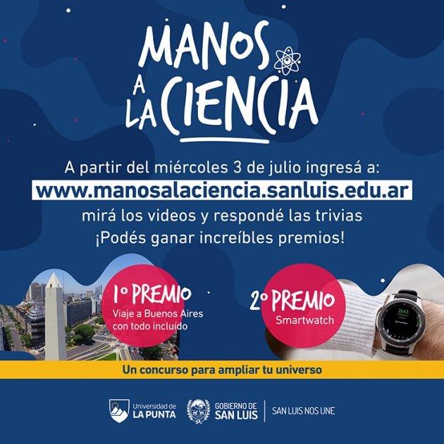 El 3 de julio comienza el concurso Manos a la Ciencia