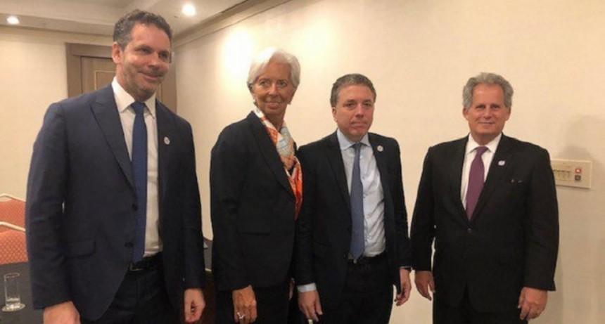 Dujovne se reunió con Christine Lagarde en Japón