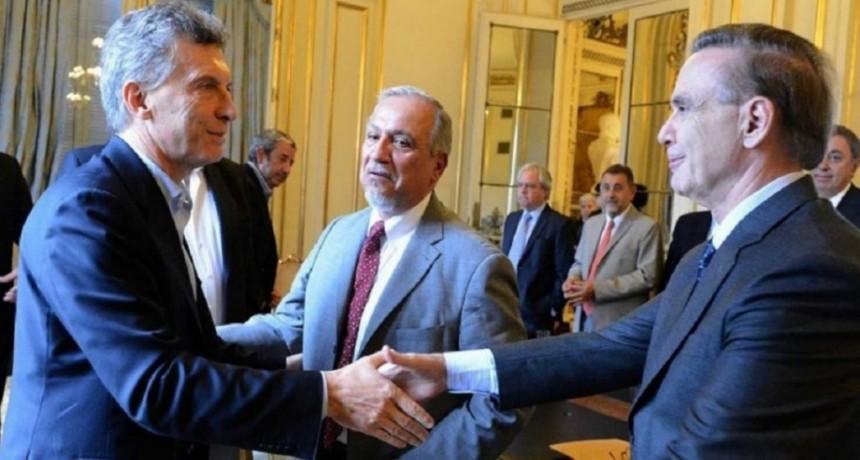 Macri y Pichetto se reúnen este miércoles en la Quinta de Olivos