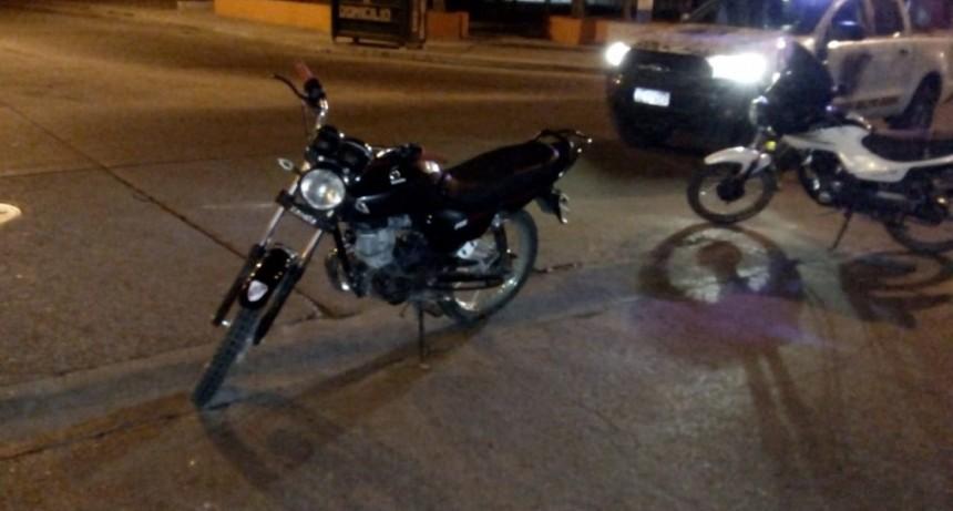 San Luis: dos motos chocaron en Avenida Fuerza Área
